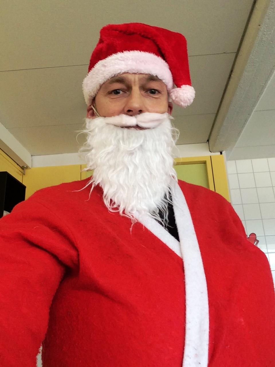 der Nikolaus war manchmal auch streng, zumindest hier guckt er gerade so